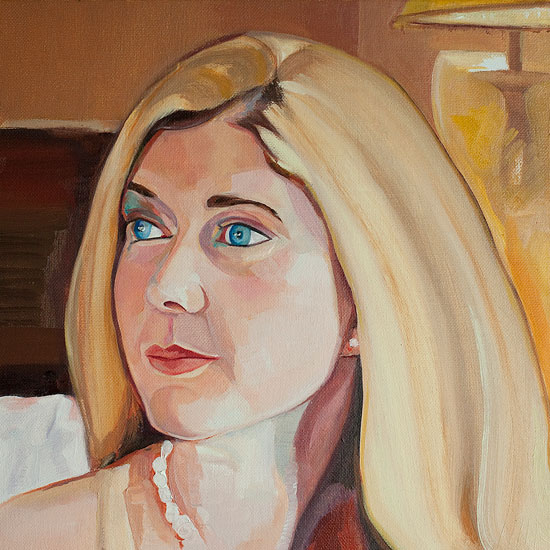 Portrait of blond young woman